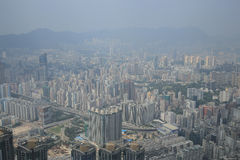 Kowloon View from International Commerce Center Skyscraper - Stock Photography