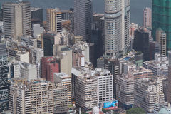 Kowloon zijaanzicht Hongkong isaland bij ICC Stock Afbeeldingen