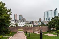 Kowloonpark als oase in een dicht stedelijk milieu, Hong Kong China royalty-vrije stock foto's