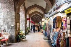 Koza Han siden- marknad i Bursaö Turkiet Royaltyfria Foton
