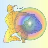 Kozak ударяет барабанчик иллюстрация штока