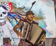 Kozak-Systemrockband führt am Atlas-Wochenendenfestival durch kiew Lizenzfreie Stockbilder