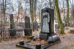 Kozakkenbegraafplaats van Alexander Nevsky Lavra Heilige Petersburg, Rusland Stock Afbeelding