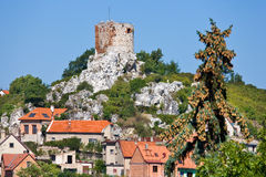 Kozi hradek,镇Mikulov,南摩拉维亚,捷克共和国 库存照片