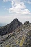 Kozi Wierch peak in polish part of High Tatras mountains Royalty Free Stock Image