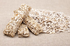 Kozinaki sunflower seeds  . Stock Photo