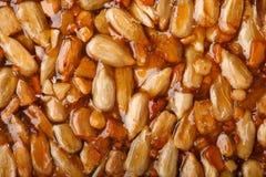 Kozinaki zrobił od słonecznikowych ziaren, dokrętki, sezamowi ziarna w suga Obrazy Royalty Free