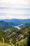 Kozjak lake in Macedonia. Beautiful mountains and Kozjak lake near Skopje in Macedonia. Macedonian landscape Royalty Free Stock Photo