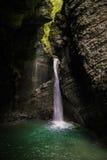 Kozjak waterfall flowing Stock Photography