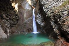 Kozjak waterfall, Kobarid, Slovenia Royalty Free Stock Photos