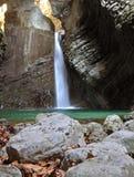 Kozjak waterfall, Kobarid, Slovenia. Kozjak waterfall near Kobarid town in Slovenia Stock Images