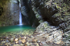 Kozjak waterfall Royalty Free Stock Photo