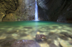 Kozjak waterfall Royalty Free Stock Images