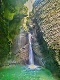 Kozjak waterfall in Slovenia Stock Photos