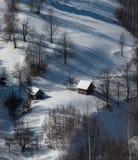 kozlovo区域俄国村庄vladimir冬天 库存照片