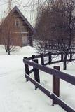 kozlovo区域俄国村庄vladimir冬天 库存图片