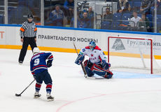 A. Koznev (9) attack I. Mukhometov (90) Royalty Free Stock Images