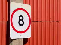 8 kph on red Royalty Free Stock Photos