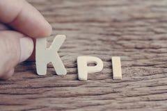 KPI、主要绩效显示企业ma的目标和成功 免版税库存图片