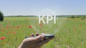 KPI全息图在智能手机的 影视素材