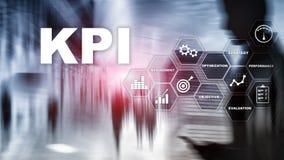 KPI - Индикатор ключевой производительности r Множественная выдержка, мультимедиа Финансовая концепция на запачканном bac иллюстрация штока