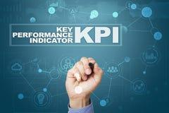 Kpi 主要绩效显示 企业和技术概念 库存照片