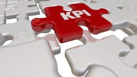 KPI -关键性能指标 在难题的缺掉元素的题字 皇族释放例证