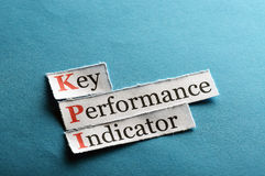 Kpi  abbreviation Stock Photo
