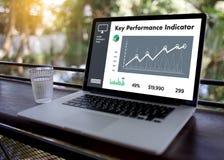 KPI acronym (Key Performance Indicator) Business team hands at w Stock Photo