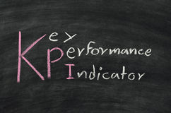 KPI on blackboard Stock Photo