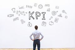 KPI, key performance indicator. KPI concept, key performance indicator Royalty Free Stock Image