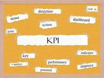 KPI Corkboard ordbegrepp Royaltyfri Bild
