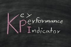 KPI en la pizarra Foto de archivo