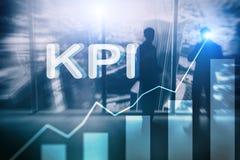 KPI - Graf för indikator för nyckel- kapacitet på suddig bakgrund vektor illustrationer