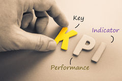 KPI. Hand arrange wood letters as KPI acronym (Key Performance Indicator Stock Images