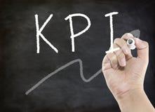 KPI hand writing Royalty Free Stock Photos