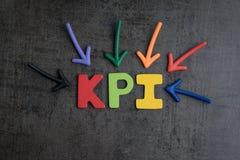 KPI, het van de Bedrijfs belangrijk puntindicator doel en het doelbeheer bedriegen royalty-vrije stock fotografie