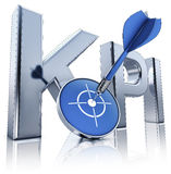 KPI. High resolution 3D rendering of a KPI icon Royalty Free Stock Photography