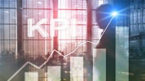 KPI - Indicador de rendimiento clave Concepto del negocio y de la tecnología Exposición múltiple, técnicas mixtas Concepto financ ilustración del vector