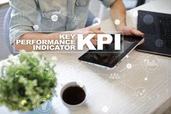 Kpi Indicatore di efficacia chiave Concetto di tecnologia e di affari fotografia stock