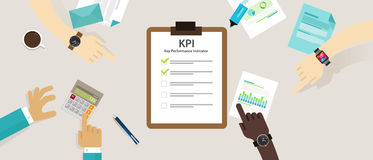 Kpi key performance indicator business concept evaluation strategy plan measure hr. Vector Royalty Free Stock Photography