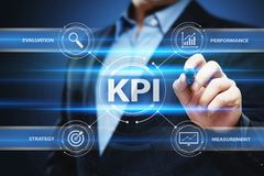 KPI Key Performance Indicator Business Internet Technology Concept.  Royalty Free Stock Image