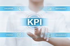KPI Key Performance Indicator Business Internet Technology Concept royalty free stock photos