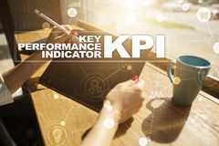KPI. Key performance indicator. Business and technology concept. Royalty Free Stock Photos