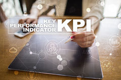 KPI. Key performance indicator. Business and technology concept. Royalty Free Stock Image