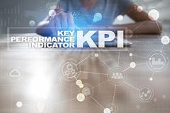 KPI. Key performance indicator. Business and technology concept. Stock Image