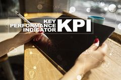 KPI. Key performance indicator. Business and technology concept. Royalty Free Stock Images