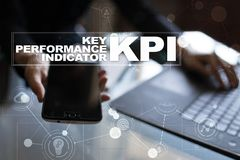 KPI. Key performance indicator. Business and technology concept. Stock Photos