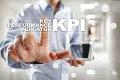 KPI. Key performance indicator. Business and technology concept. Royalty Free Stock Photo