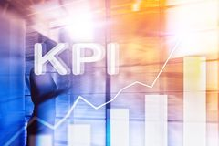 KPI - Key Performance Indicator. Business and technology concept. Multiple exposure, mixed media. Financial concept on stock images